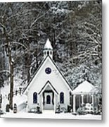 Chapel In The Snow - D007592 Metal Print by Daniel Dempster