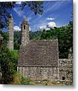 Chapel Of Saint Kevin At Glendalough Metal Print by The Irish Image Collection