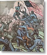 Charge Of The 54th Massachusetts Metal Print