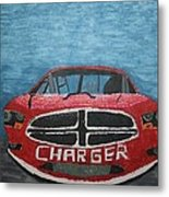 Charger Art By My Son Metal Print