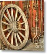 Chariot Wheel Metal Print