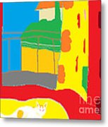 Charity By The Window Metal Print by Anita Dale Livaditis