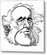 Charles Lyell, Caricature Metal Print by Gary Brown