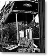 Charles W Morgan Hays  And Ros Clark Ship-lift  Metal Print