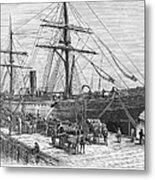 Charleston: Cotton Ship Metal Print