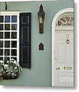 Charleston Doorway - D006767 Metal Print