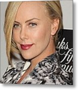 Charlize Theron At In-store Appearance Metal Print