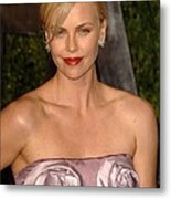 Charlize Theron Wearing A Dior Haute Metal Print by Everett