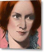Charlotte Bronte, English Author Metal Print