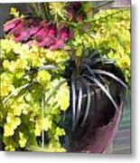 Chartreuse And Purple Plants Metal Print