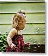 Chasing Bubbles Metal Print