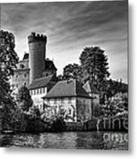 Chateau On The Lake At Annecy Metal Print