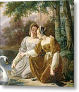 Chatelaines Metal Print by Pierre Henri Revoil