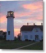 Chatham Lighthouse Sunset Metal Print