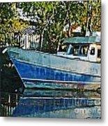 Chauvin La Blue Bayou Boat Metal Print