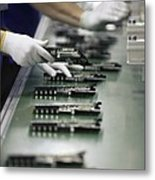 Checking Tv Circuit Board Components Metal Print
