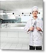 Chef On Duty Metal Print