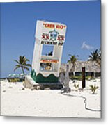 Chen Rio Beach Bar Cozumel Mexico Metal Print