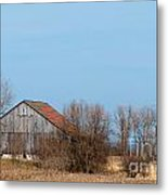 Chequerboard Barn Metal Print