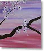 Cherry Blossoms At Sunrise Metal Print