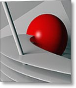 Cherry Float Metal Print
