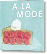Cherry Pie A La Mode Metal Print by Linda Woods