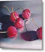 Cherry Talk Metal Print by Elizabeth Dobbs