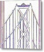 Chesapeake Bridge Between The Lines Metal Print