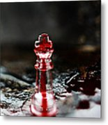 Chess Piece In Blood Metal Print