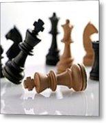 Chess Pieces Metal Print