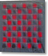 Chessboard 1982 Metal Print by Glenn Bautista