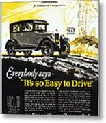 Chevrolet Ad, 1926 Metal Print