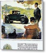 Chevrolet Ad, 1927 Metal Print
