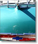 Chevrolet Bel-air . Blue . 7d12851 Metal Print by Wingsdomain Art and Photography