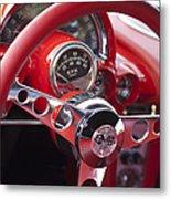 Chevrolet Corvette Steering Wheel Metal Print