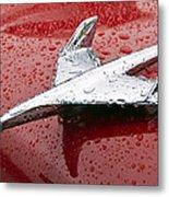 Chevy Bel Air Nomad Hood Ornament Metal Print