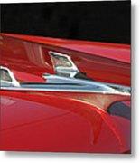 Chevy Bel Aire Hood Ornament Metal Print