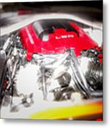 Chevy Camaro Engine Metal Print