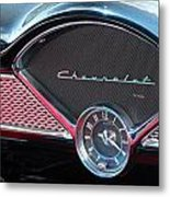 Chevy Dash Clock Metal Print