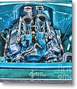 Chevy Engine Hdr Metal Print