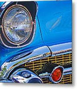 Chevy Headlight Metal Print