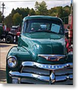Chevy In Green Metal Print