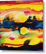 Cheyenne Sunset Metal Print
