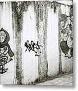 Chiang Mai Graffiti Metal Print