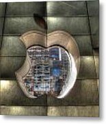 Chicago Apple Store Metal Print
