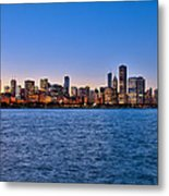 Chicago At Sunset Metal Print