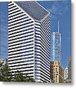 Chicago Crain Communications Building - Former Smurfit-stone Metal Print