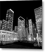 Chicago Downtown At Night  Metal Print