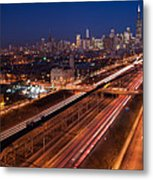 Chicago Illumina Metal Print