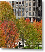 Chicago In Autumn Metal Print